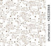 seamless unicorn pattern with... | Shutterstock .eps vector #428220868