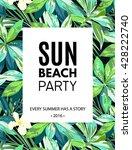 bright hawaiian design with... | Shutterstock .eps vector #428222740