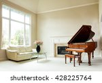 Living Room With Grand Piano ...