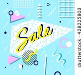 sale poster with geometric... | Shutterstock .eps vector #428225803