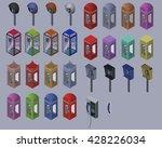 Set Of Telephone Box.