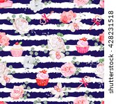 navy striped seamless vector... | Shutterstock .eps vector #428231518