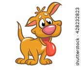 cute puppy cartoon vector...   Shutterstock .eps vector #428232823