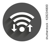 wifi signal sign. wi fi upload  ...