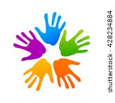 concept of community unity.... | Shutterstock .eps vector #428234884