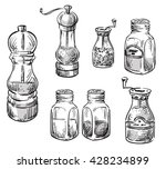 salt and pepper shakers. spice... | Shutterstock .eps vector #428234899