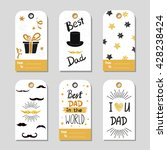 fathers day set in gold and... | Shutterstock .eps vector #428238424