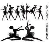 ballerina. watercolors in...   Shutterstock . vector #428240704