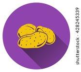 potato icon. flat design....