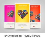 heart with lot of application... | Shutterstock .eps vector #428245408