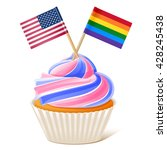 cupcake. rainbow flag and... | Shutterstock .eps vector #428245438