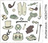 gentleman vintage accessories... | Shutterstock .eps vector #428247796