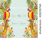 save the date wedding card.... | Shutterstock .eps vector #428250760