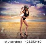 sunset diva | Shutterstock . vector #428253460