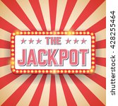 jackpot billboard. electric... | Shutterstock .eps vector #428255464