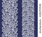 seamless  lace  floral  ... | Shutterstock .eps vector #428255530