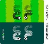 football  soccer  vector set of ... | Shutterstock .eps vector #428256148
