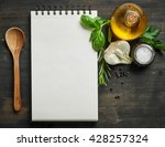 Paper Notebook And Food...