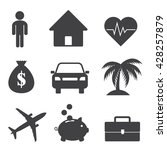 insurance protection icons.... | Shutterstock .eps vector #428257879