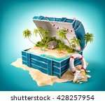 fantastic tropical island with... | Shutterstock . vector #428257954