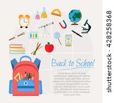 vector illustration of school... | Shutterstock .eps vector #428258368