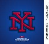 new york city baseball logo.... | Shutterstock .eps vector #428262304