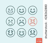 emoticons icon. set emoji icons ... | Shutterstock .eps vector #428262880