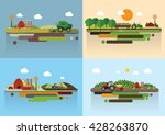 set of the farming agriculture... | Shutterstock .eps vector #428263870