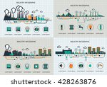 set of the infographic template.... | Shutterstock .eps vector #428263876