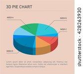conceptual infographic 3d pie... | Shutterstock .eps vector #428263930