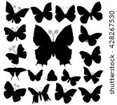 butterfly silhouettes | Shutterstock .eps vector #428267530
