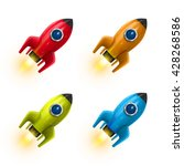 the rocket collection icon 3d ... | Shutterstock .eps vector #428268586