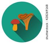 mushroom  icon. flat design....
