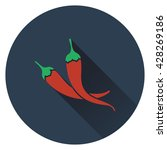 chili pepper icon. flat design. ...