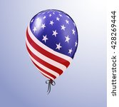 balloon with american... | Shutterstock .eps vector #428269444