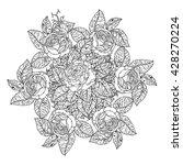 luxury flowers bouquet in shape ... | Shutterstock .eps vector #428270224