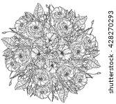 luxury flowers bouquet in shape ... | Shutterstock .eps vector #428270293
