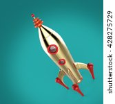 vintage colorful rocket... | Shutterstock . vector #428275729