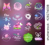beauty and health care labels... | Shutterstock .eps vector #428276038