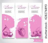 organic eco berries banners....   Shutterstock .eps vector #428276893