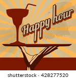 vintage flyer with cocktail... | Shutterstock .eps vector #428277520