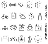 set of linear vector web icons... | Shutterstock .eps vector #428277538