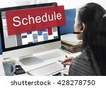 schedule organization planning... | Shutterstock . vector #428278750