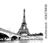 eiffel tower vector sketch....