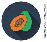 papaya icon. flat design....