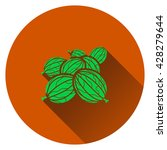 gooseberry icon. flat design....