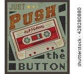 push the button tee graphic | Shutterstock .eps vector #428280880