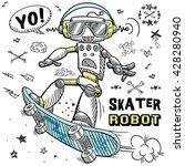 Skater Robot Character Design...