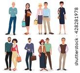 international adult people... | Shutterstock .eps vector #428281978