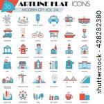 vector modern city ultra modern ... | Shutterstock .eps vector #428282380